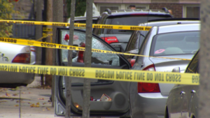 Crime Scene where Anthony Toombs was shot dead; Pic Credit: WBZ-TV