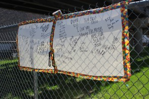 Demario Collins memorial / Photo by Emily Brosious