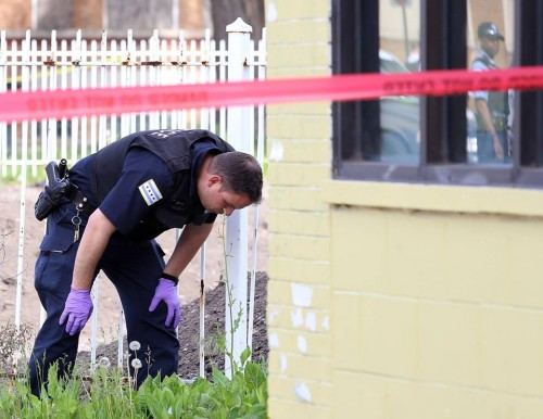 Crime scene where Kenneth Anthony was shot / Photo by Alex Wroblewski