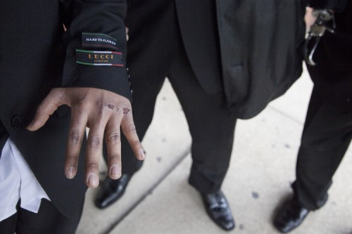 Alex Garrido shows his graze wounds on his hands while standing with his brother Thursday May 24, 2014. | Jessica Koscielniak / Sun-Times