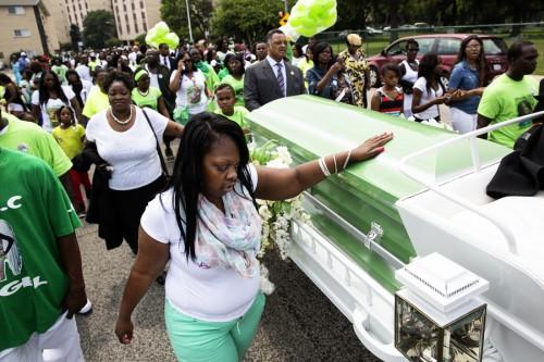 Shamiya Adams funeral / Photo by Jessica Koscielniak