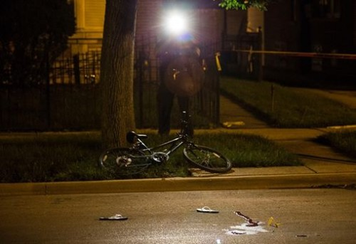 Scene where Anthony Hobson was shot / Photo by Alex Wroblewski