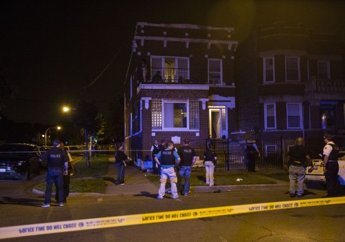 Scene where Shamiya Adams was fatally shot / Photo by Alex Wroblewski