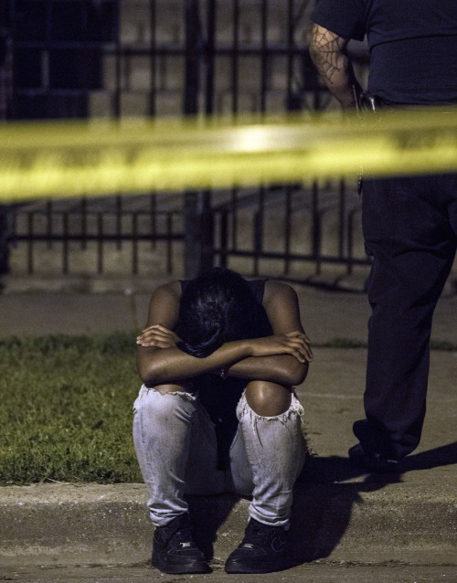 Scene where Shamiya Adams was fatally shot / Photo by Alex Wroblewski
