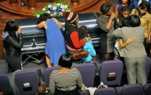 Demario Bailey's funeral / Photo by Al Podgorski