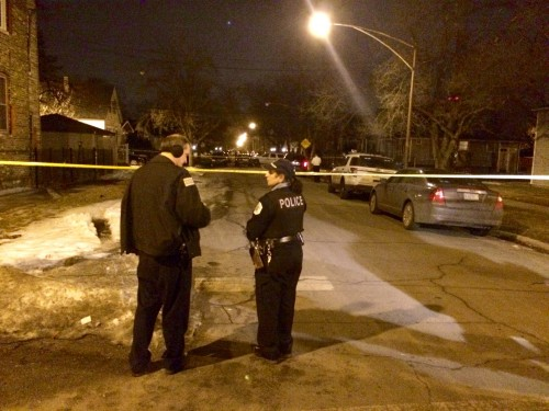 Scene where a 77-year-old man was fatally shot / Photo by Mitch Dudek