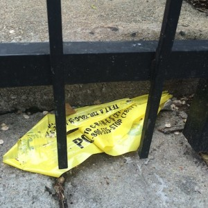 Police Tape where Shaquon Thomas was fatally shot.