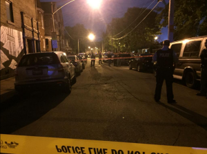 A 17-year-old boy was shot to death in Bridgeport Wednesday night. | Sam Charles/Sun-Times