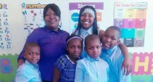 Tamara Sword with her kids, Jeremiah, 7; Jakiera, 9; Terrell, 8; Joe, 10; and Kierra, 16. | Photo provided by Andrew Holmes