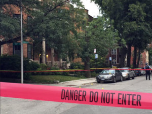 A man was shot to death Tuesday evening near President Barack Obama's Kenwood home. | Sam Charles/Sun-Times