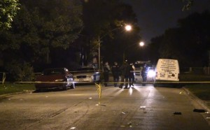 Authorities investigate after a shooting and crash that left one person dead and at least 11 others hospitalized, police said. | Network Video Productions