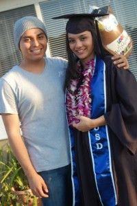 Despite their initial long distance relationship, O'Connor and boyfriend, Carlos Sorto, found a way to make it work and Sorta came to California to watch O'Connor graduate from the University of San Diego.