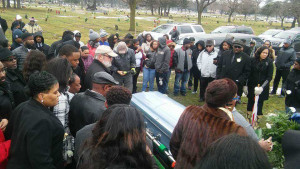 Friends and family attend the funeral of Ronald Jerome Clarke on Jan. 15 at Saint Basil Visitation Parish. | photo provided