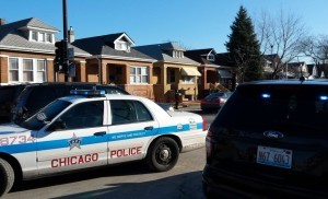 Chicago Police at the scene in Gage Park where six people were found dead Thursday afternoon. | Chicago Police