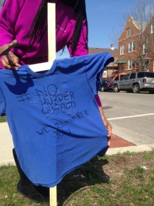 T-shirts were posted on the South and Southeast sides on Sunday, calling on Chicagoans to put away the guns on Easter Sunday. | Facebook
