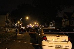 Two people were killed and two more were wounded in a shooting early Thursday in Back of the Yards. | Daniel Brown/Sun-Times