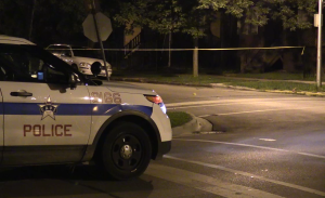 Chicago Police investigate in the 5500 block of West Quincy, where where a teenage boy was killed and another wounded Monday night. | NVP News