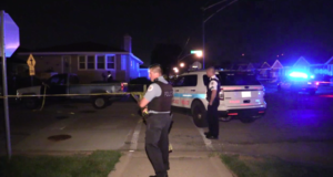 Police investigate a shooting in the 2900 block of West 82nd Street Sunday morning which killed the son of a Chicago Police officer. | NVP News