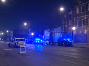 Chicago Police investigate a shooting early Wednesday in the 4500 block of South Cottage Grove. | Network Video Productions