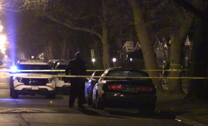 Chicago Police investigate a shooting Wednesday night in the 9100 block of South Emerald. | Network Video Productions