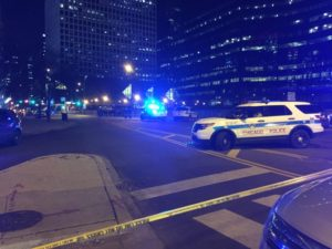Police cordon off streets near Union Station after the shooting on Feb. 8. | Sam Charles/Sun-Times