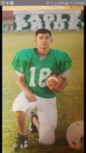 14-year-old Damien Santoyo had recently moved to Chicago from Texas, where he played junior high football. He was killed in a drive-by shooting early Sunday. | Facebook