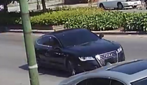 Investigators say this black, four-door Audi sedan was used in the fatal shooting of 58-year-old Willie Cooper on July 15 on the Far South Side. | Chicago Police