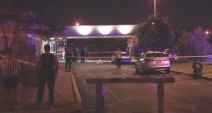 One person was killed and seven other people were wounded in a shooting early Sunday outside a banquet hall in West Pullman. | NVP Video