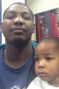 Jerrell Perkins with his son