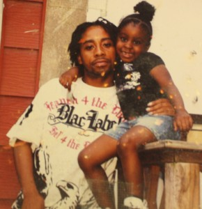 Rasheen Jones, pictured here with his 7-year-old daughter, was shot to death on July 23 in Trenton.