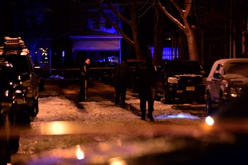 Police investigate Trenton's first homicide of 2015 in the 200 block of Pearl Street. Scott Ketterer - The Trentonian