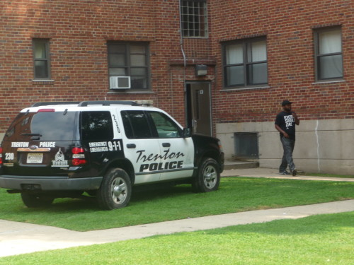 Police are investigating a murder that occurred inside a Donnelly Homes apartment on Beakes Street. July 1, 2015 (Penny Ray - Trentonian)