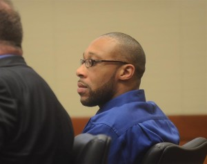 Defendent Shaheed Brown listens to trial testimony. (Gregg Slaboda - Trentonian)