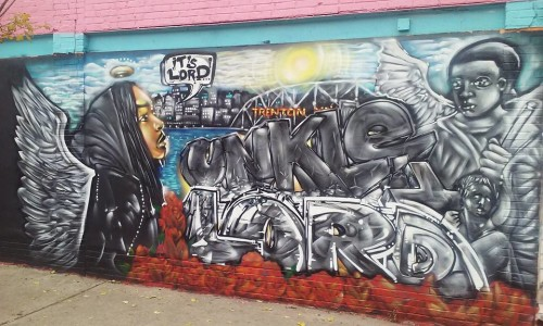This mural in memory of Unkle Lord, aka Davae Dickson, was painted by Will Kasso of S.A.G.E. Coalition at the corner of Chambers and Locust streets. (contributed photo)