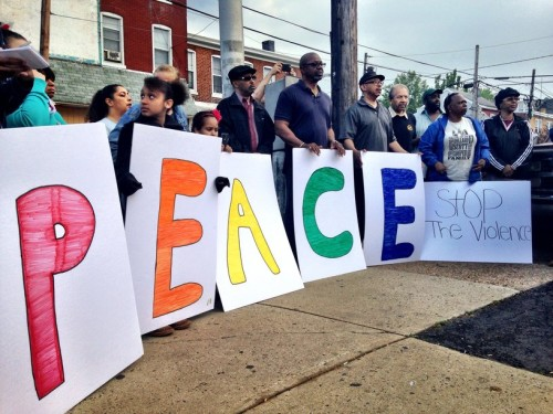 At a Trenton Stop the Violence rally in April, several people spoke about the need for parents to teach kids respect for themselves and others. (Penny Ray - Trentonian)