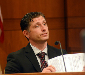 State Police Detective Joseph Itri testifies at Shaheed Brown's trial. Gregg Slaboda - The Trentonian