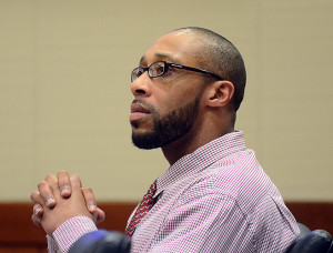 Shaheed Brown listens to testimony from New Jersey State Police Detective Joseph Itri. (FILE PHOTO)