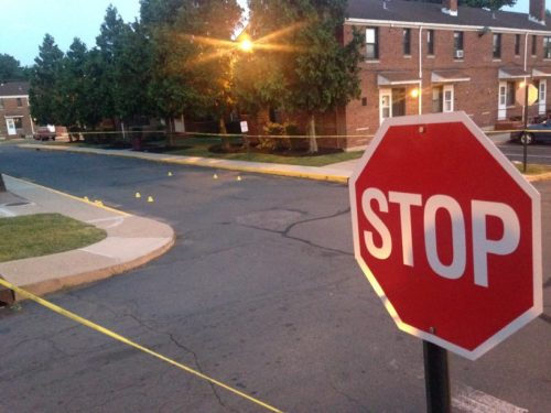 Police are investigating a murder at Prospect Village in Trenton Saturday afternoon. (Sulaiman Abdur-Rahman -- The Trentonian)