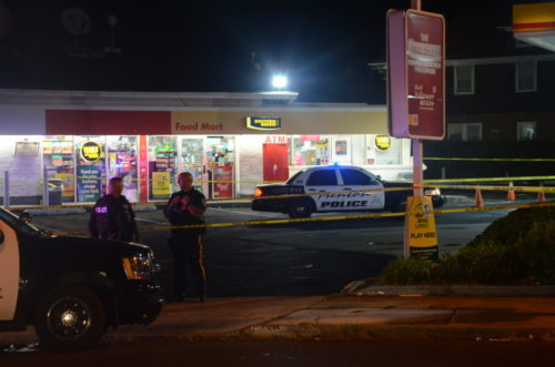 Two men were murdered in the parking lot of this gas station. Sept. 11, 2016 (Penny Ray - Trentonian)