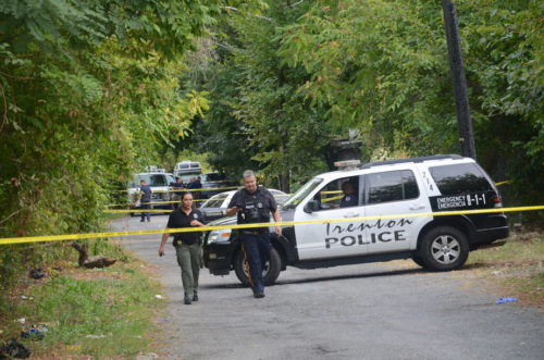 A man was shot and killed on East Stuyvesant Avenue. September 18, 2016 (Penny Ray - Trentonian)