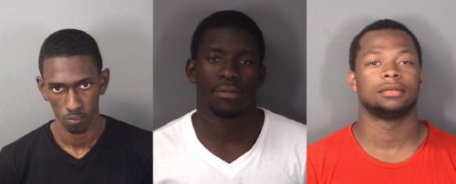 (left to right) Wilson George, Jayshawn Smith and Juprie Wadley