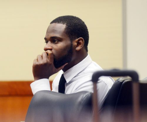 Defendant Masiyah Howard listens to closing arguments in Mercer County Superior Court on Wenesday, May 3, 2017. (Gregg Slaboda Photo)