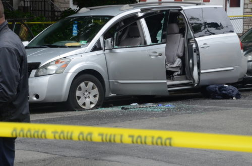A woman was killed and two men were injured in a drive-by shooting in Trenton. May 25, 2017 (Penny Ray - Trentonian)