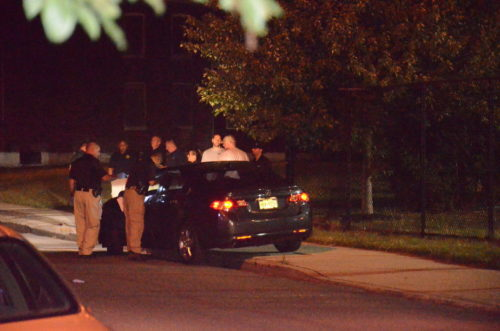 A man was murdered while in his car across the street from the hospital Wednesday night (Penny Ray - Trentonian)