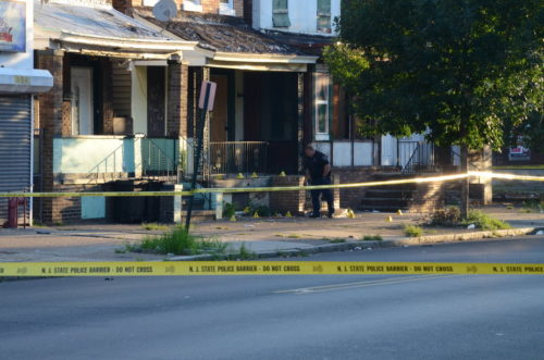 Police investigate a murder in Trenton (Penny Ray - Trentonian)