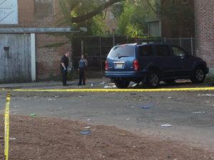 Sulaiman Abdur-Rahman - The Trentonian Police investigate the homicide scene where a Trenton man was shot and killed Saturday, Sept. 16, 2017, off Daymond Street near Bridge Street in South Trenton.