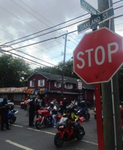 """A """"Ride for Peace"""" tour rumbles through Trenton's West Ward on Saturday, Sept. 16, 2017, hours after two men were shot and killed in the capital city. (Sulaiman Abdur-Rahman - The Trentonian)"""
