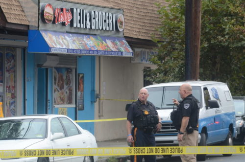 A man was killed outside a store in Trenton Sunday. (Penny Ray - Trentonian)