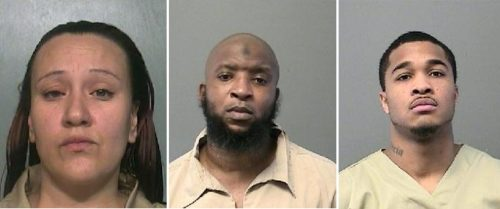 (From left) Alexandria Gomez, Kenneth Hines and Jaquan Dallas
