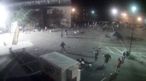 Screenshot of sercurity footage show people scrambling after the shooting at Art All Night in Trenton.